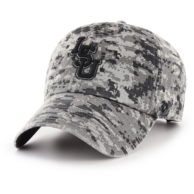 '47 Louisiana State University Men's OHT Camo Nilan Clean Up Cap (, Size One Size) - NCAA Licensed Product, NCAA Men's Caps at Academy Sports thumbnail