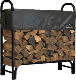 ShelterLogic 4 ft Heavy Duty Firewood Rack with Cover