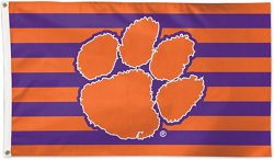 Clemson Tigers Stars and Stripes Deluxe Flag