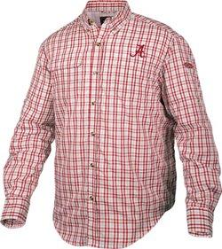 Men's University of Alabama Gingham Plaid Wingshooter's Long Sleeve Shirt