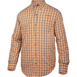 Men's University of Tennessee Gingham Wingshooter's Long Sleeve Shirt