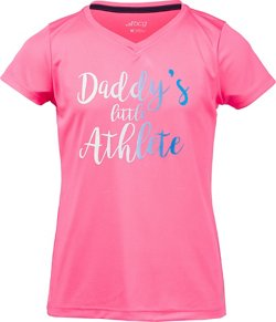 BCG Girls' Athletic Turbo Daddy's Little Athlete T-shirt