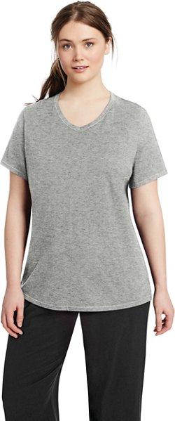 Champion Women's Double Dry Plus Size Cotton T-shirt