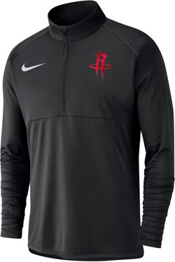 Nike Men's Houston Rockets Dry Element 1/2 Zip Top