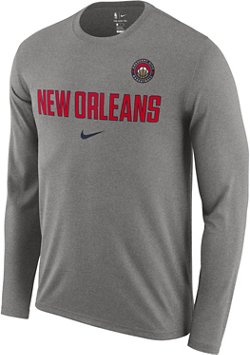 Nike Men's New Orleans Pelicans Essential Dry Wordmark Facility T-shirt