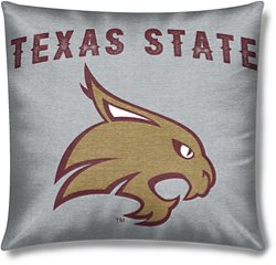 The Northwest Company Texas State University 16 in x 16 in Sweatshirt Knit Pillow