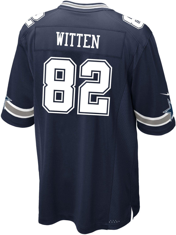 new styles 34a1d 63fbf Nike Men's Dallas Cowboys Jason Witten 82 Commemorative Patch Game Replica  Jersey