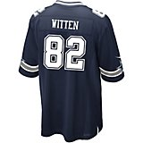 6a7aaed8e4c36e Men's Dallas Cowboys Jason Witten 82 Commemorative Patch Game Replica Jersey