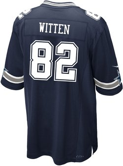 Nike Men's Dallas Cowboys Jason Witten 82 Commemorative Patch Game Replica Jersey