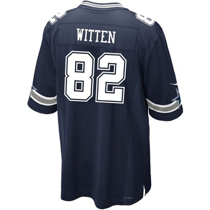 ... Nike Men s Dallas Cowboys Jason Witten 82 Commemorative Patch Game  Replica Jersey. Dallas Cowboys Clothing. Hover Click to enlarge e5aa58657