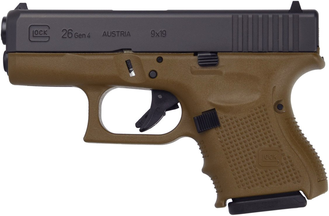 GLOCK G26 G4 FDE 9mm Semiautomatic Pistol - view number 1