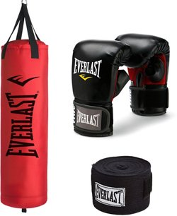 Everlast 70 lb Synthetic Heavy Bag Kit