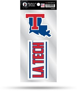 Rico Louisiana Tech University Double Up Decals 2-Pack