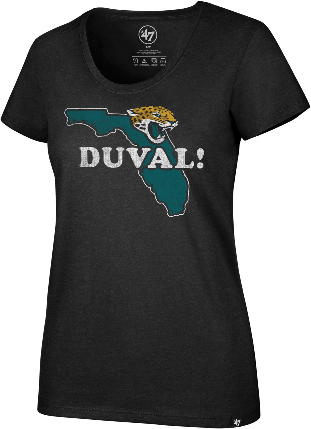 brand new 71697 56ab2 '47 Jacksonville Jaguars Women's Duval Scoop Neck T-shirt
