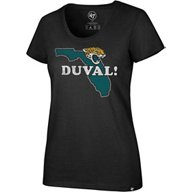 '47 Jacksonville Jaguars Women's Duval Scoop Neck T-shirt