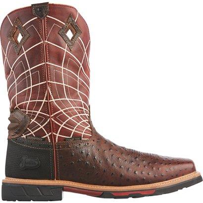 5728abc9a0e Justin Men s Ostrich Print Composite Toe Waterproof Work Boots