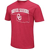 Colosseum Athletics Men's University of Oklahoma Dual Blend NOW Faded Team with State T-shirt