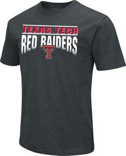 Colosseum Athletics Men's Texas Tech University Dual Blend Faded Arch Team Logo T-shirt