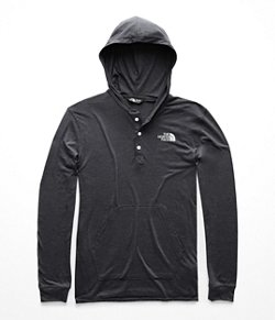 Men's Mountain Lifestyle Tri-Blend Henley Hoodie