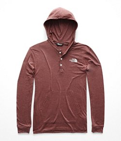The North Face Men's Mountain Lifestyle Tri-Blend Henley Hoodie