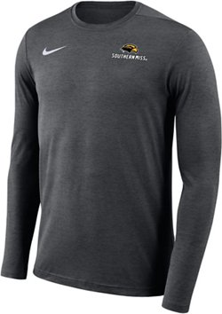Nike Men's University of Southern Mississippi Sideline Coach Long Sleeve T-shirt