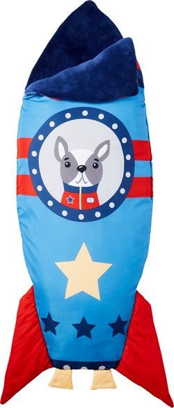 Heritage Kids' Rocket Ship Snuggle Tail Blanket