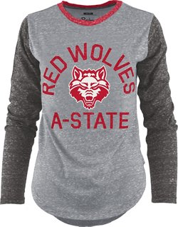 Three Squared Women's Arkansas State University Ariel Long Sleeve T-shirt