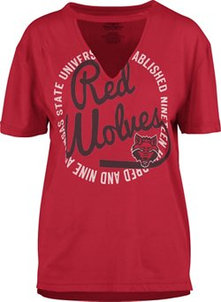 Three Squared Women's Arkansas State University Lucky Saylor T-shirt