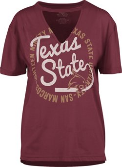 Three Squared Women's Texas State University Lucky Saylor T-shirt