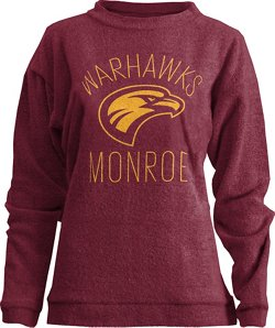 Three Squared Women's University of Louisiana at Monroe Thin Arch Comfy Terry Pullover