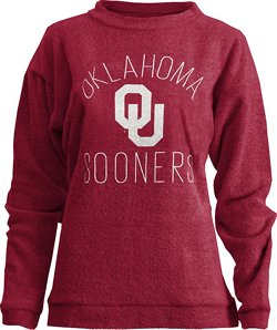 Three Squared Women's University of Oklahoma Thin Arch Comfy Terry Pullover