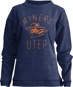 Three Squared Women's University of Texas at El Paso Thin Arch Comfy Terry Pullover