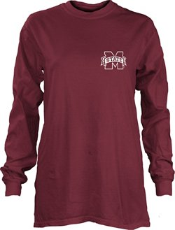 Three Squared Women's Mississippi State University Saturdays Are Booked Coastal T-shirt