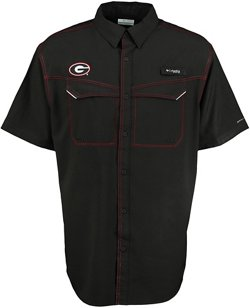 Columbia Sportswear Men's University of Georgia Low Drag Offshore Fishing Shirt