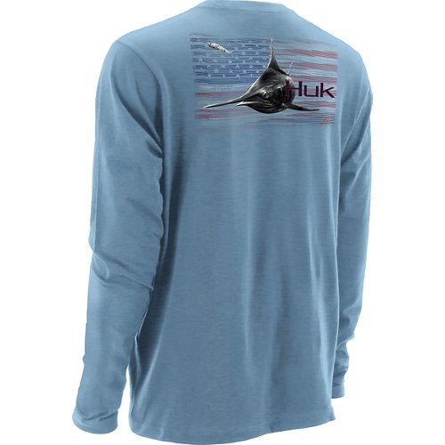 Huk Men's KC Scott American Pitch Long Sleeve T-shirt