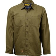 Brazos Men's Contractor Duck Canvas Flannel Lined Shirt Jacket