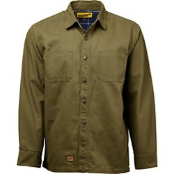 Men's Contractor Duck Canvas Flannel Lined Shirt Jacket