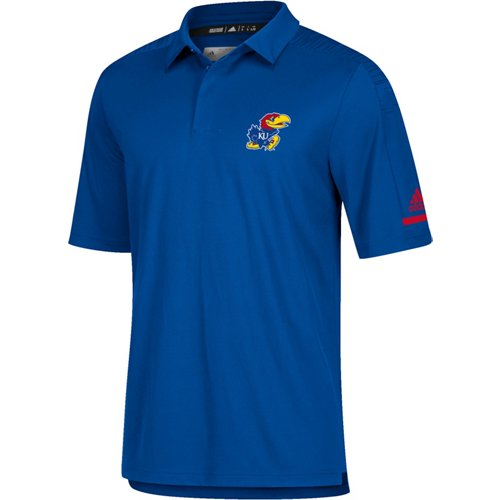 adidas Men's climalite University of Kansas Team Iconic Coaches' Polo