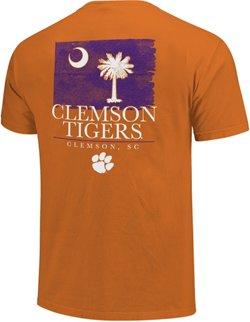 Image One Men's Clemson University Watercolor State Flag T-shirt