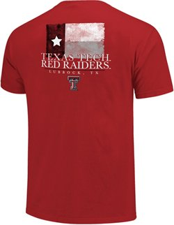 Image One Men's Texas Tech University Watercolor State Flag T-shirt