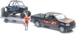 New-Ray Toys Pickup Truck With Polaris RZR XP1000 Set
