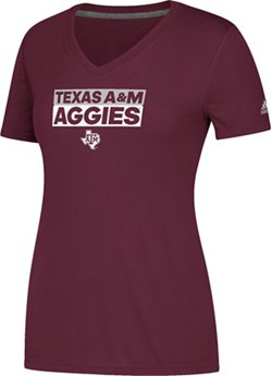 adidas Women's Texas A&M University Ultimate Box V-neck T-shirt