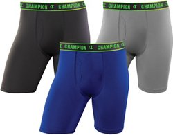 Champion Men's Active Performance Long Leg Boxer Briefs 3-Pack