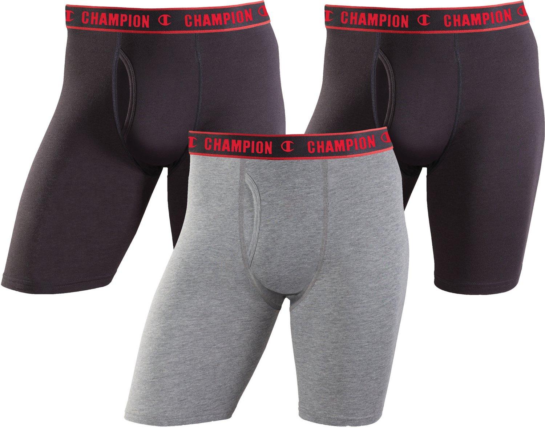Champion Men's Performance Long Leg Boxer Briefs 3-Pack
