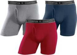 Champion Men's Performance Regular Boxer Briefs 3-Pack