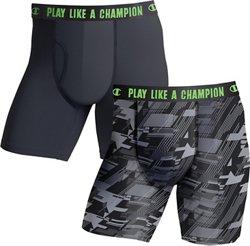 Men's Ultra Lightweight Regular Leg Boxer Briefs 2-Pack