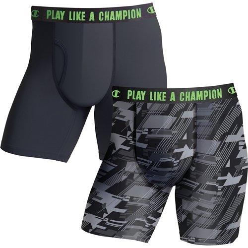 Champion Men's Ultra Lightweight Regular Leg Boxer Briefs 2-Pack