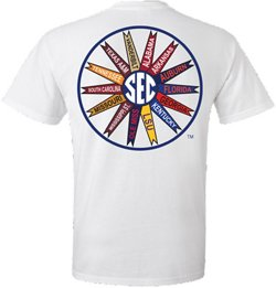 New World Graphics Men's University of Florida SEC Pinwheel Pocket T-shirt