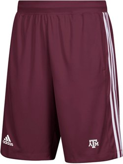 adidas Men's Texas A&M University 3-Stripes Knit Shorts