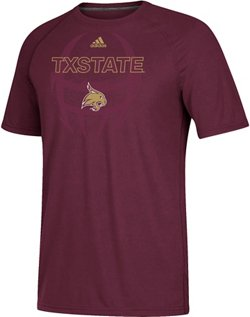 adidas Men's Texas State University Ultimate Sideline Helmet Pop Short Sleeve T-shirt